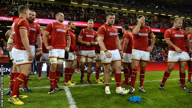 Wales dejected after loss to Ireland