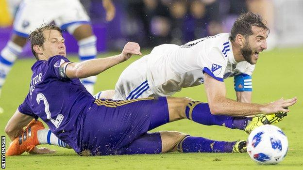 Jonathan Spector, left, endured a injury-plagued two-year stint at Orlando City