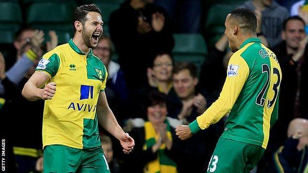 Matt Jarvis celebrates his goal