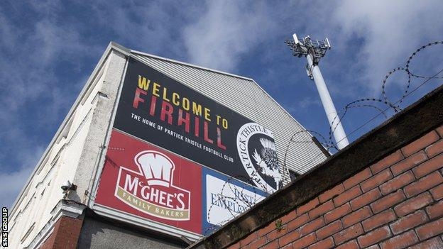 Partick Thistle have been relegated despite sitting just two points behind Queen of the South with a game in hand
