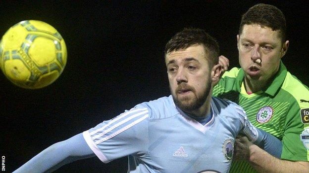 Conor McMenamin in action for Warrenpoint