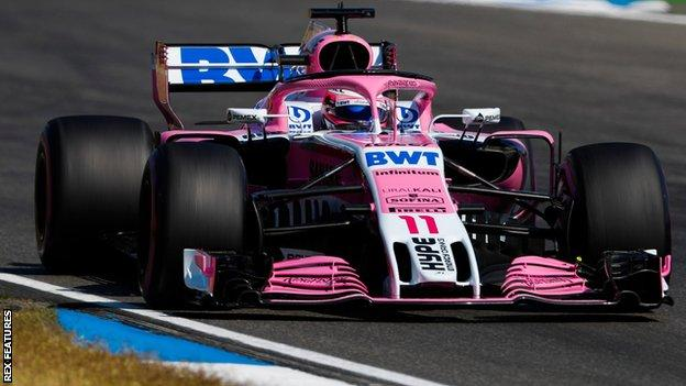 Force India's Esteban Ocon