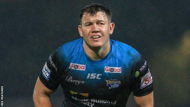 Brett Ferres in action for Leeds Rhinos