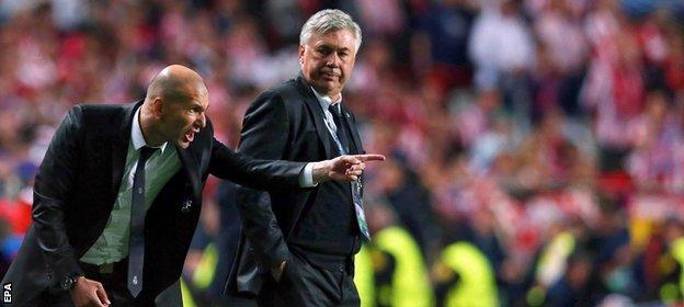 Zidane was a key member of Carlo Ancelotti's backroom team at Real