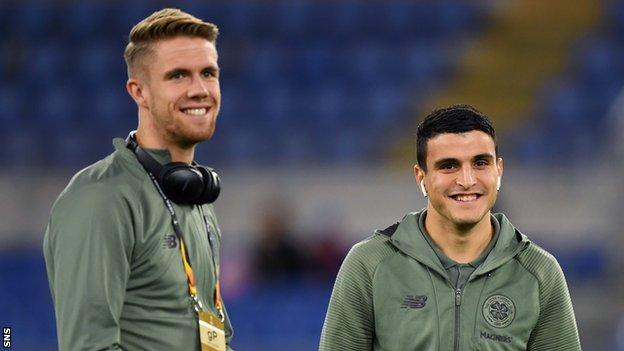 Kristoffer Ajer and Mohamed Elyounoussi