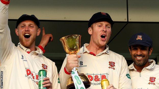 Essex celebrate their title win