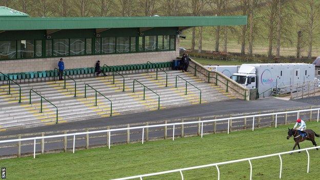 Scottish racing has been held behind closed doors since it resumed in June