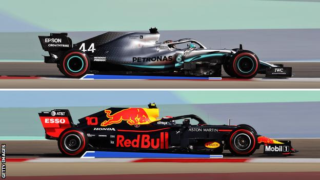 Mercedes and Red Bull