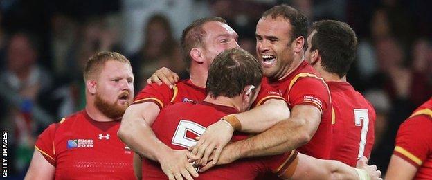 Wales celebrate beating England