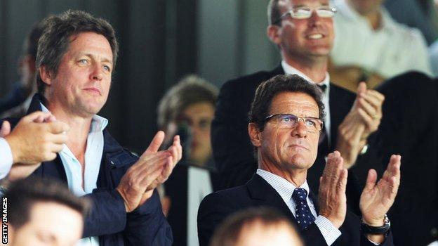 Hugh Grant and Fabio Capello