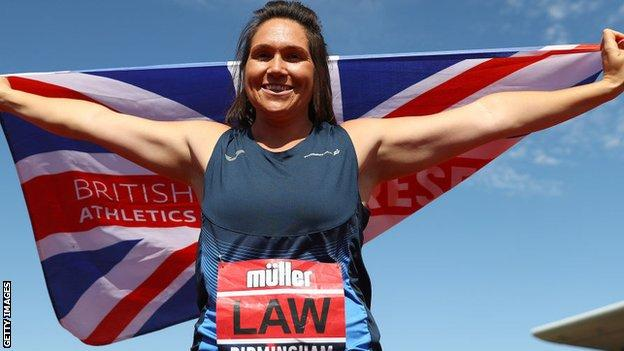 Kirsty Law won the women's British and Scottish discus titles last summer