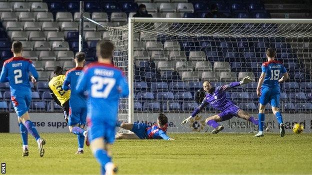 Nortei Nortey's second-half goal was enough to earn Queens the points