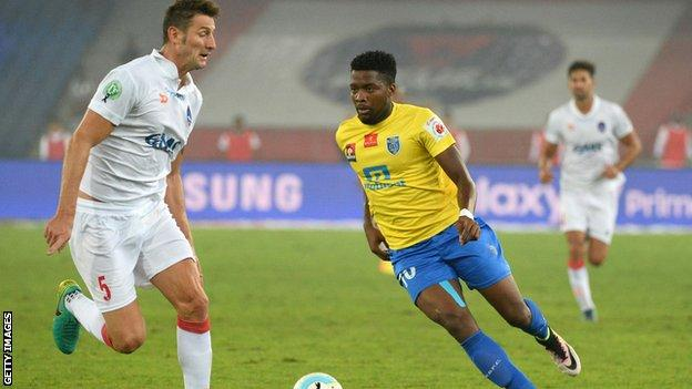 Antonio German playing for a club side in India