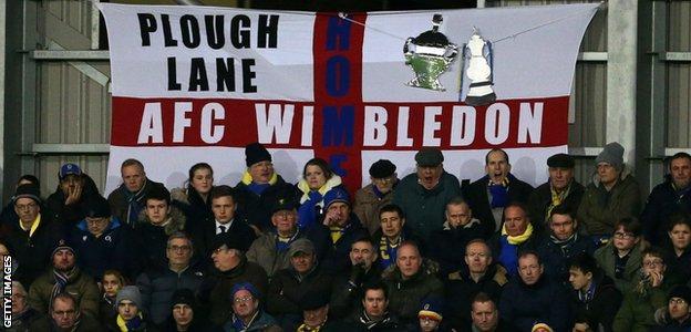 AFC Wimbledon fans