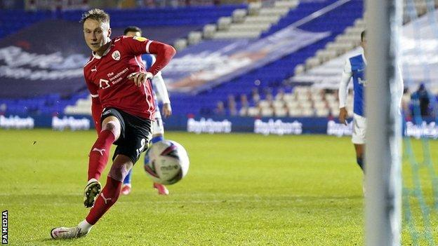 Cauley Woodrow's controversial penalty got Barnsley back in the game against Birmingham City at St Andrew's