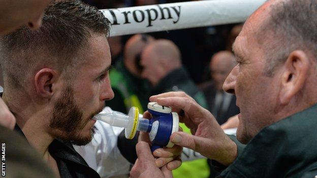 Burnett needed medical attention before leaving the ring on a stretcher