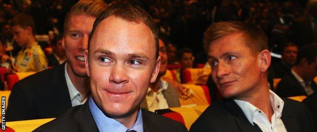 Chris Froome and Andre Greipel