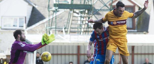 Well's second goal had a touch of fortune about it as the keeper misjudged Louis Moult's cross