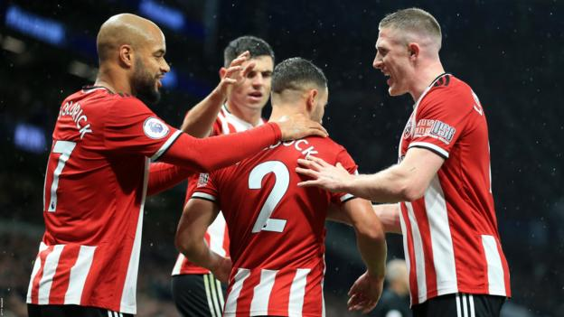 Tottenham 1-1 Sheffield United: George Baldock salvages point for Blades thumbnail