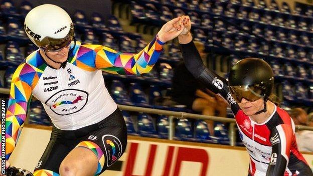 Rachel McKinnon says the majority of female cyclists have been supportive towards her, including Carolien van Herrikhuyzen