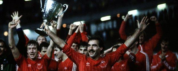 Aberdeen's finest hour came in 1983 when they beat Real Madrid to win the European Cup Winners' Cup