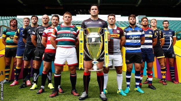 Premiership rugby captains