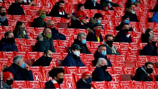 Fans at Emirates