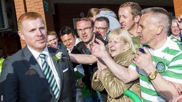 Neil Lennon won three league titles and two Scottish Cups in his previous stint as Celtic boss