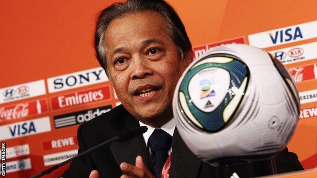 Former president of the Thai football federation Worawi Makudi