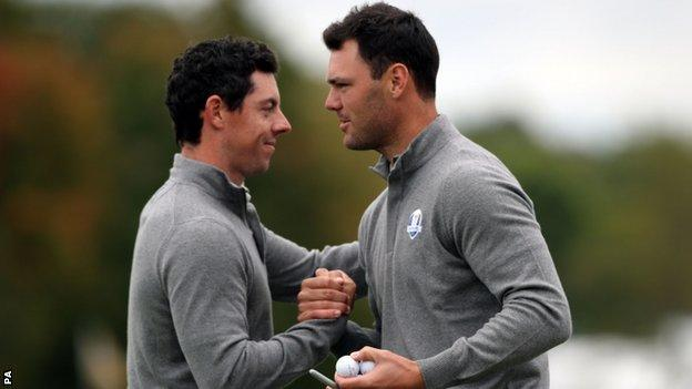 Rory McIlroy (left) and Martin Kaymer