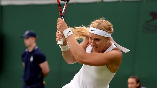 Wimbledon 2016: Sabine Lisicki wastes no time in winning opening game - BBC Sport