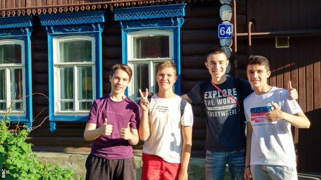 Friends Anton, Danil, Artur and Faridyn in Saransk