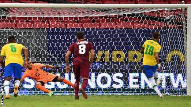 Neymar scores for Brazil