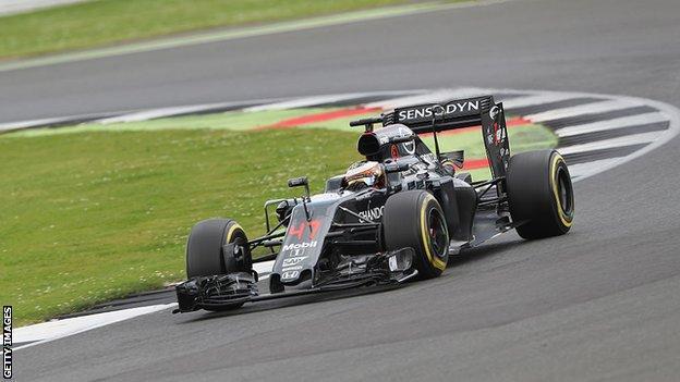 Stoffel Vandoorne at Silverstone