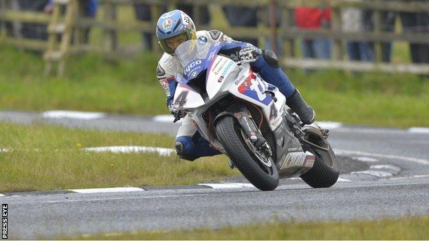 Guy Martin on his way to setting the quickest time on Wednesday