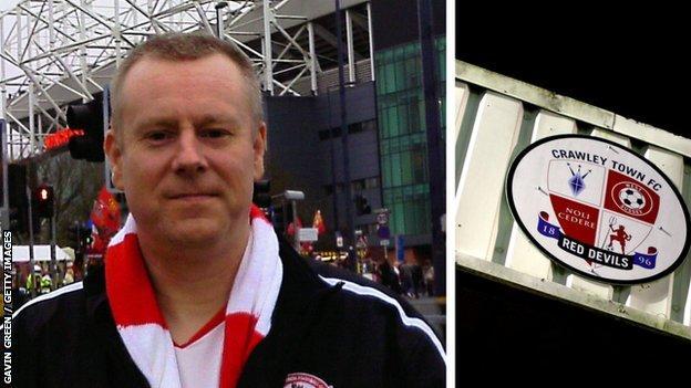 Gavin Green outside Old Trafford