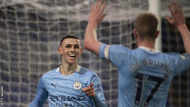 Phil Foden and Kevin de Bruyne