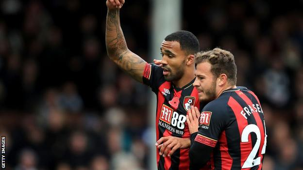 Callum Wilson and Ryan Fraser playing for Bournemouth