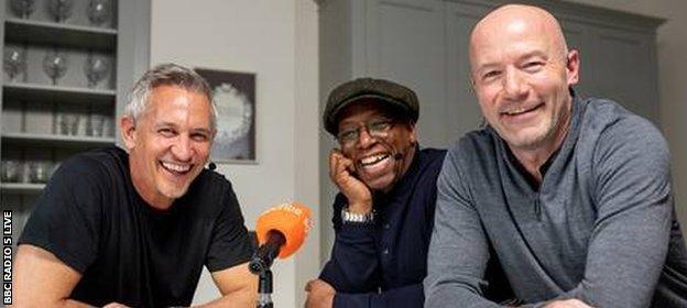 Gary Lineker, Ian Wright and Alan Shearer