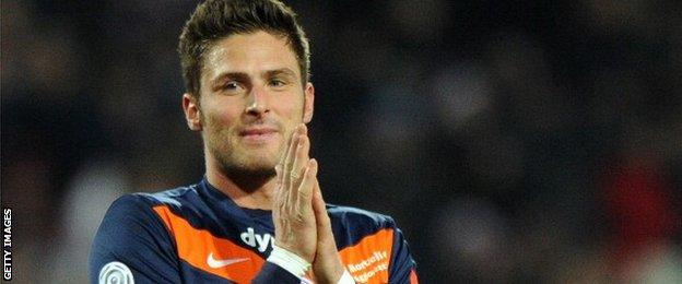 Oliver Giroud starred for Montpellier before going to Arsenal