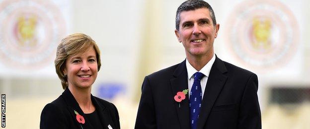 Clare Connor and Mark Robinson