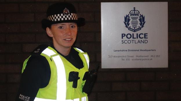 Kylie Cockburn in Police Scotland uniform