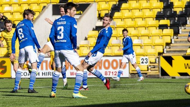 Livingston 2-0 St Johnstone: Hosts climb off bottom spot - BBC Sport