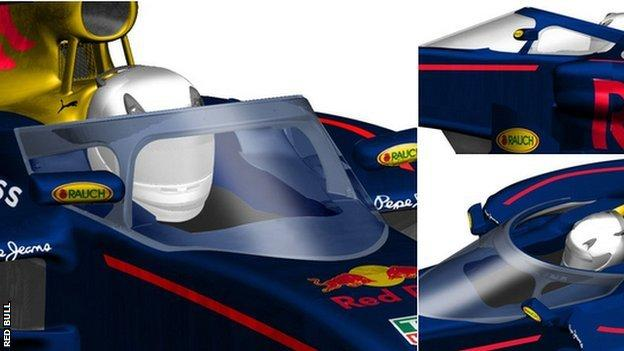 Red Bull cockpit protection design