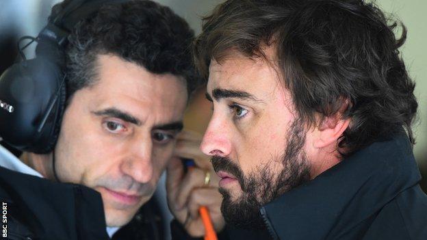Andrea Stella and Fernando Alonso