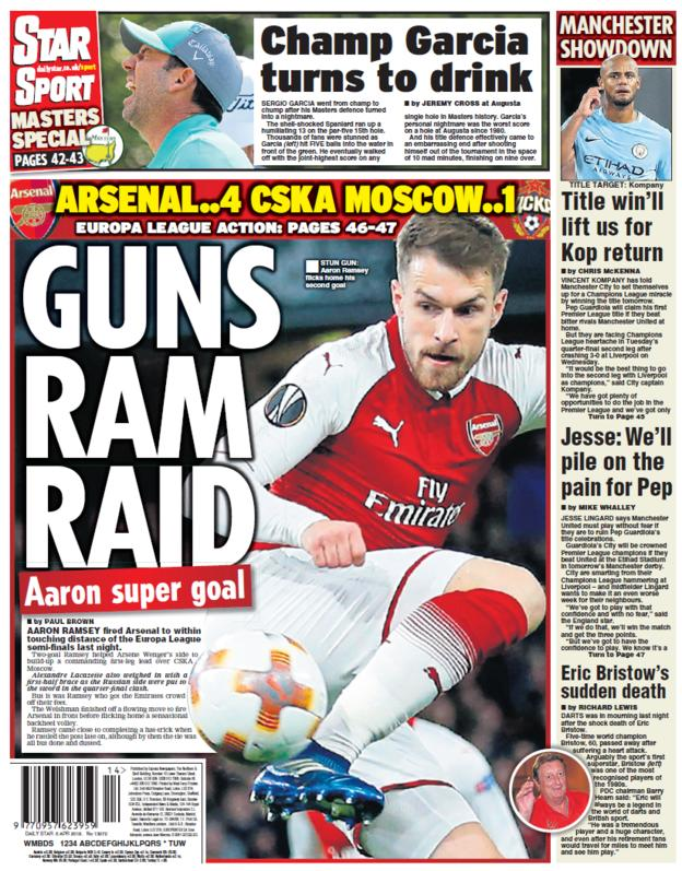 Daily Star back page on Friday