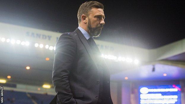 Aberdeen manager Derek McInnes at Ibrox