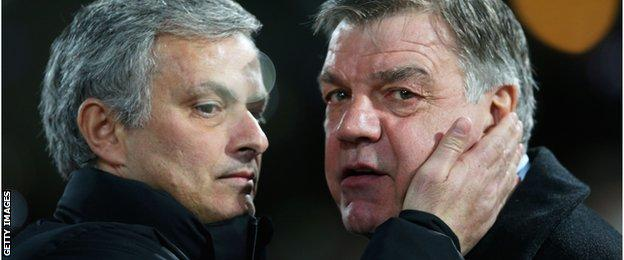Jose Mourinho and Sam Allardyce