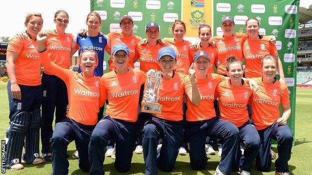 England with the Twenty20 series trophy