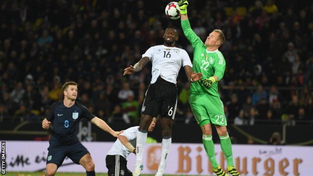 Antonio Rudiger helped Germany beat England in a friendly in March